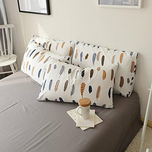 Bed Pillowcases 2 Queen White Covers Standard Kids Adults End-Premium,Ultra Soft,Hypoallergenic,Breathable