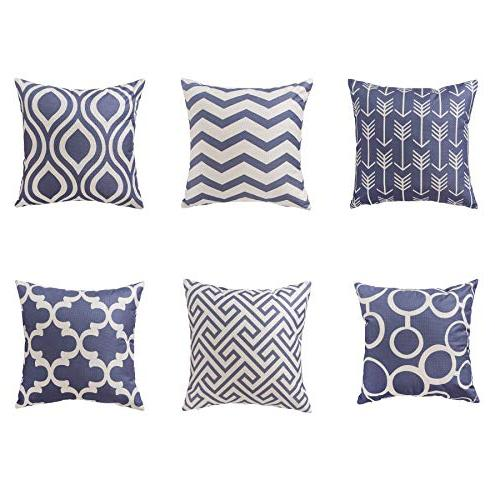 famibay Cotton Covers Patterns Throw Decorative Cushion Cover Set Couch Bed Pack 6