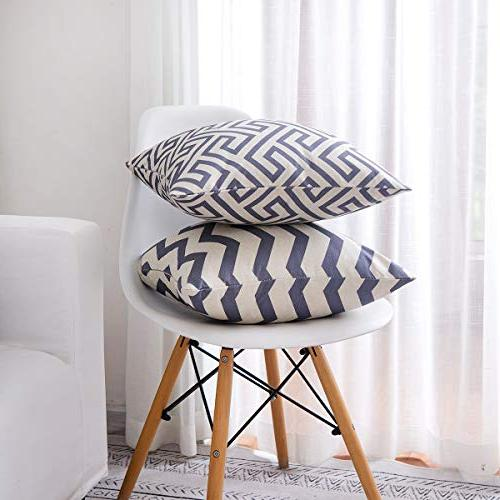 Covers Square Patterns Pillow Decorative Set for Sofa Couch