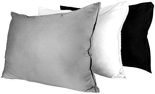 Cotton Cases - 2 - Sateen Pillow for Maximum Softness - Easy Elegant Double Hemmed 300 Utopia
