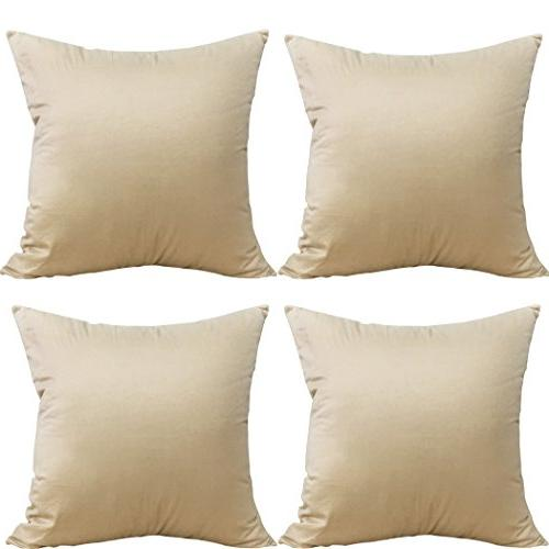 cotton solid decorative throw pillow