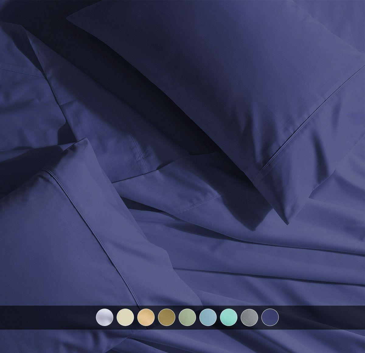 crispy percale pillowcases 300 thread count solid
