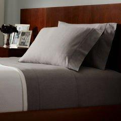 Set Lauren Dunham Pillowcases Dove Gray -300 Thread Count