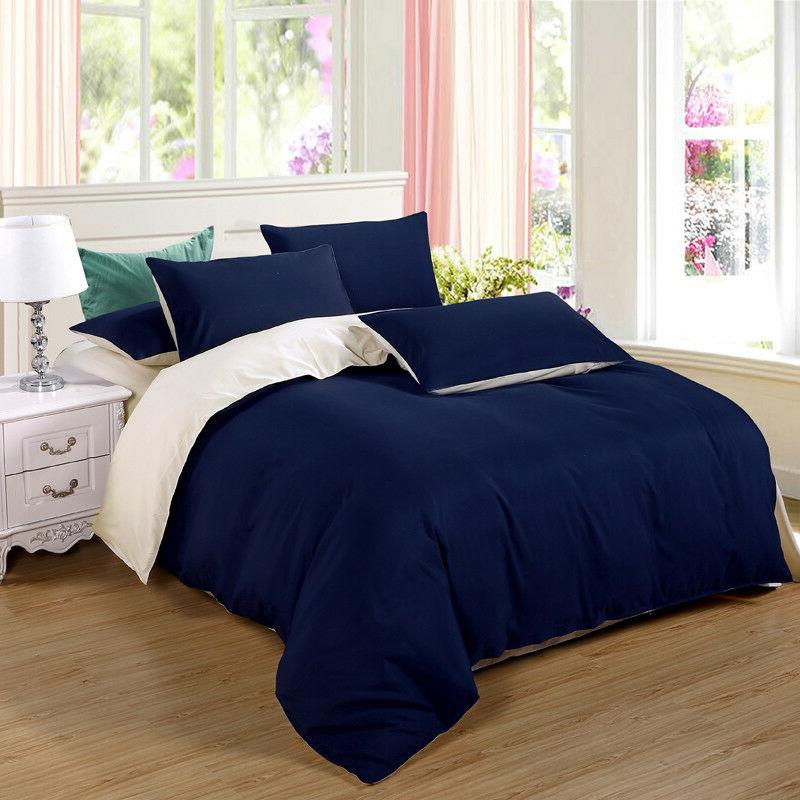 Duvet Flat Bedding Cover Set Classic Style Bed Sheets Pillow