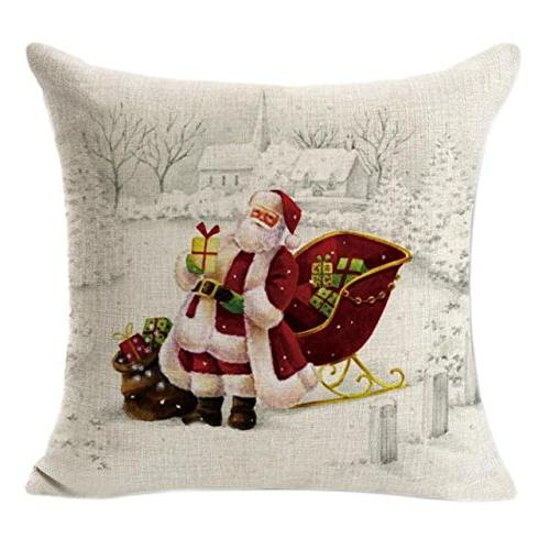 embroidery throw pillow case christmas