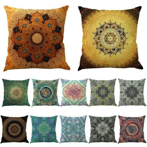 Ethnic Mandala Throw Cushion Pillow Case