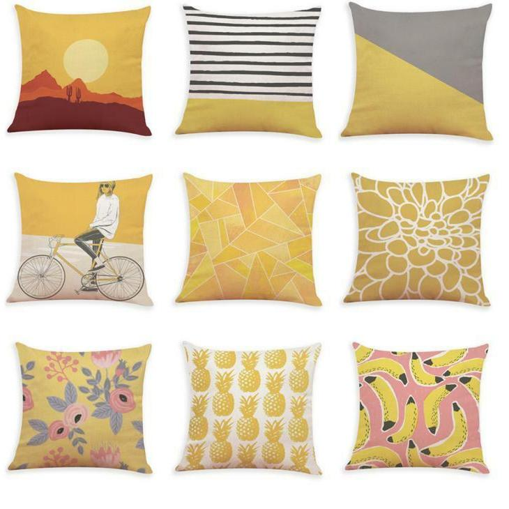 Fashion Polyester Cushion Pillow Cover Room