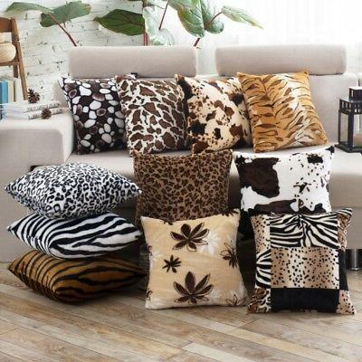 fashion square animal print pillow cases leopard