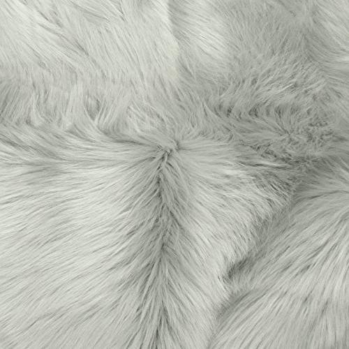 Faux – Furry Rugs for Vanity Seats Cover Shaggy Area Home Plush Seat Pad, Kids Rooms, Room Floor Faux 2ft x