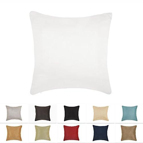 faux suede decorative pillow cover