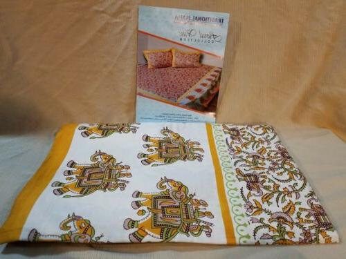 Traditional Collection Printed Set/2 Pillow Cases
