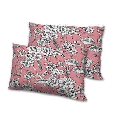 floral pink print 12x18 pillow cases cushions