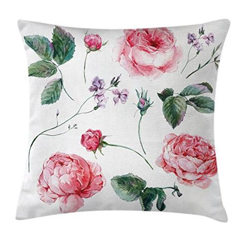 flower decor throw pillow cushion