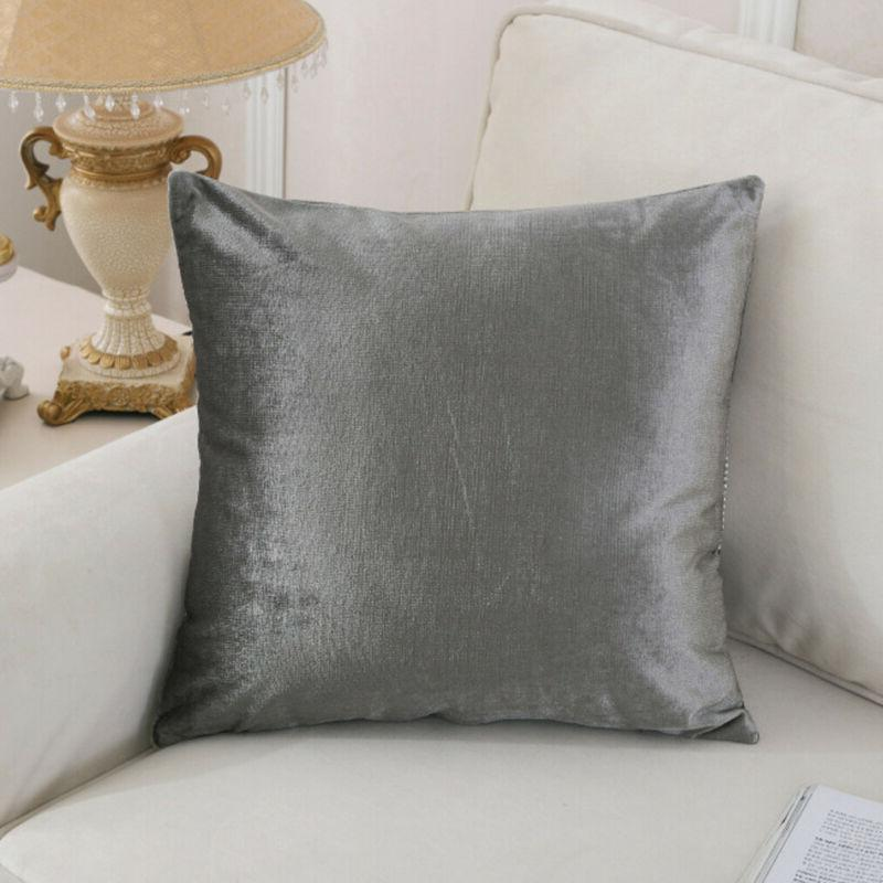 45X45 Fashion Solid <font><b>Flannel</b></font> <font><b>Pillow</b></font> Cushion Standard Decor