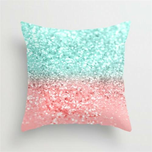 Geometric Printed Polyester Pillow Cover Home Decor