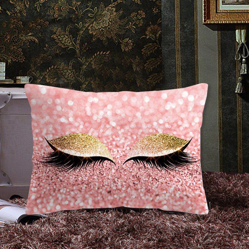 Glitter Eyelash Cover Throw Pillow Covers Office