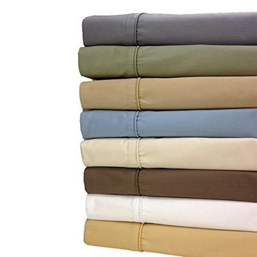 Standard Gold Wrinkle-Free Pillowcases 650-Thread-Count Solid