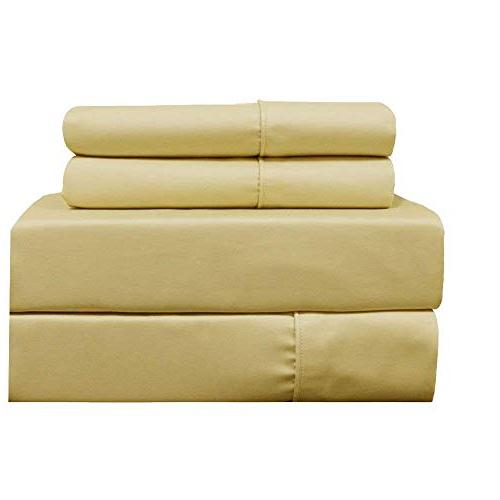 gold cotton blend wrinkle pillowcases