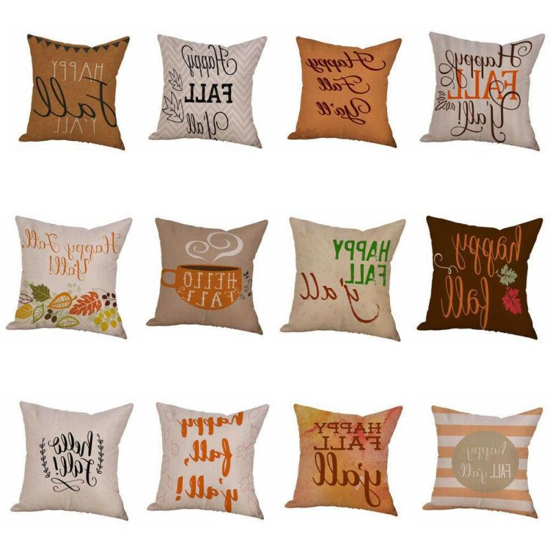 halloween happy fall yall flax pillow cases