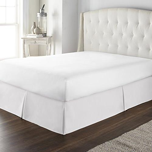 Hotel Luxury Bed Skirt/Dust Ruffle inch &