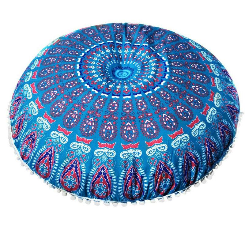 Indian Cases Round Pillows Cover