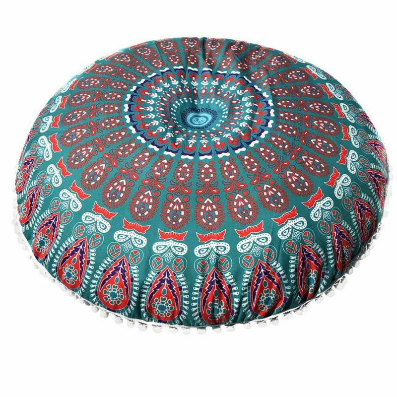Indian Mandala Pillow Cases Round Cushion Pillows Cover Huge
