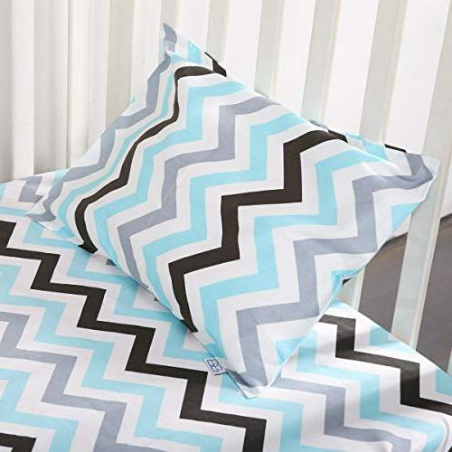 """Kids Toddler 2 Pack 100% Cotton sizesd x 18"""" or Kids Bedding Baby Pillow Stripes and"""