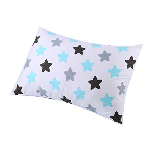 """Kids Toddler Pillowcases 2 100% Cotton Pillowslip Fits sizesd or 12x 16"""" Kids Bedding Cover Baby Pillow and"""