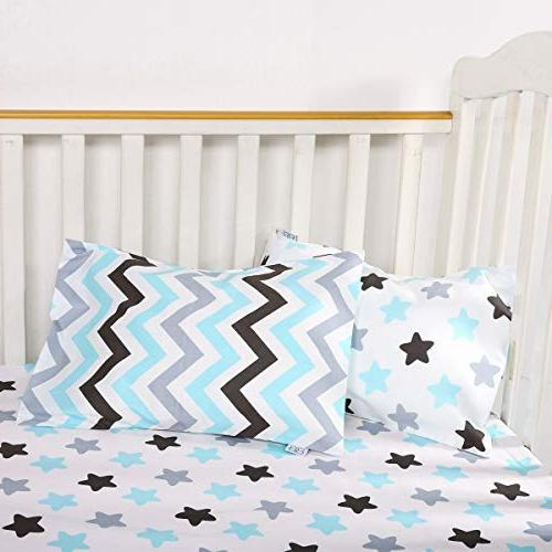 """Kids Toddler 2 Pack Cotton Pillowslip sizesd 13 x or 16"""" for Kids Baby Pillow Cases and"""