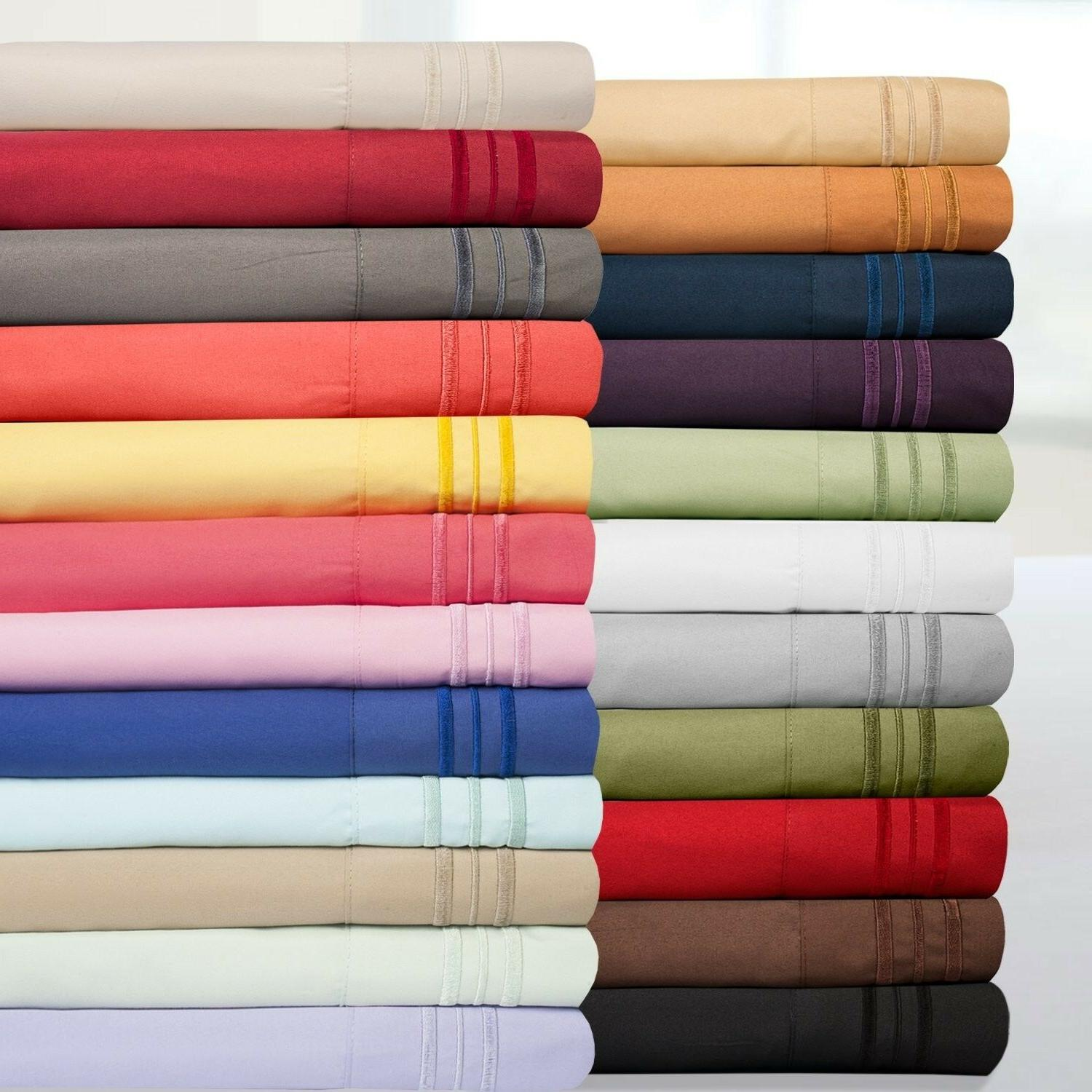 King Sheet Set Thread Count Egyptian Quality 2 Pillow Cases