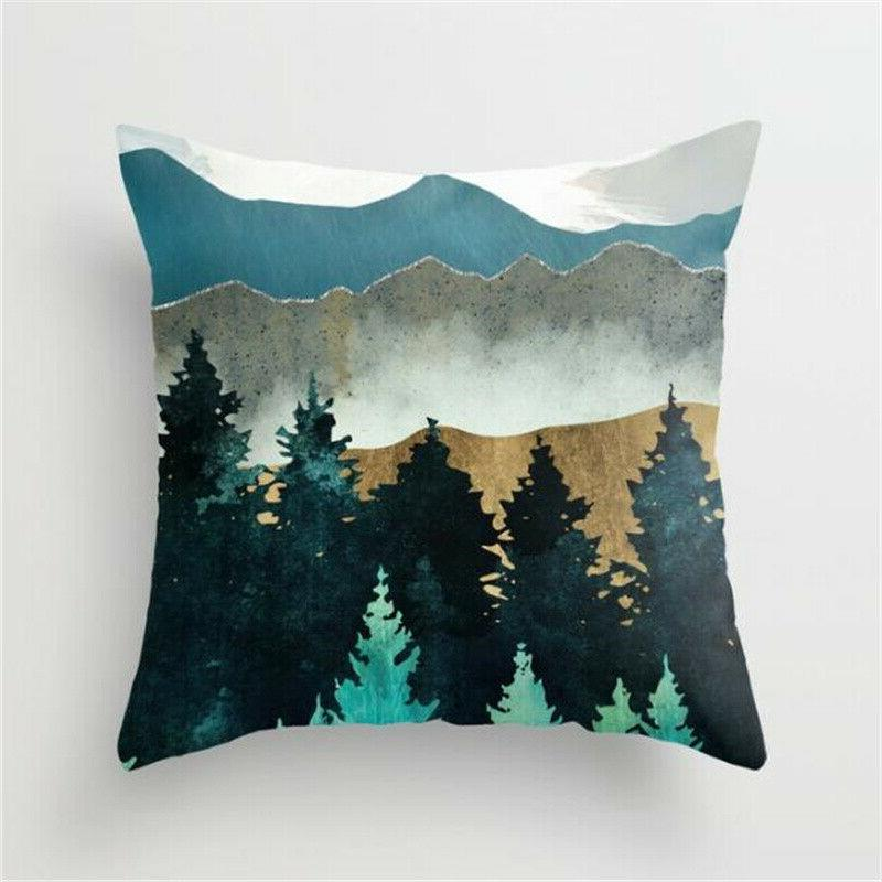 Landscape Pillow Home Throw Cover
