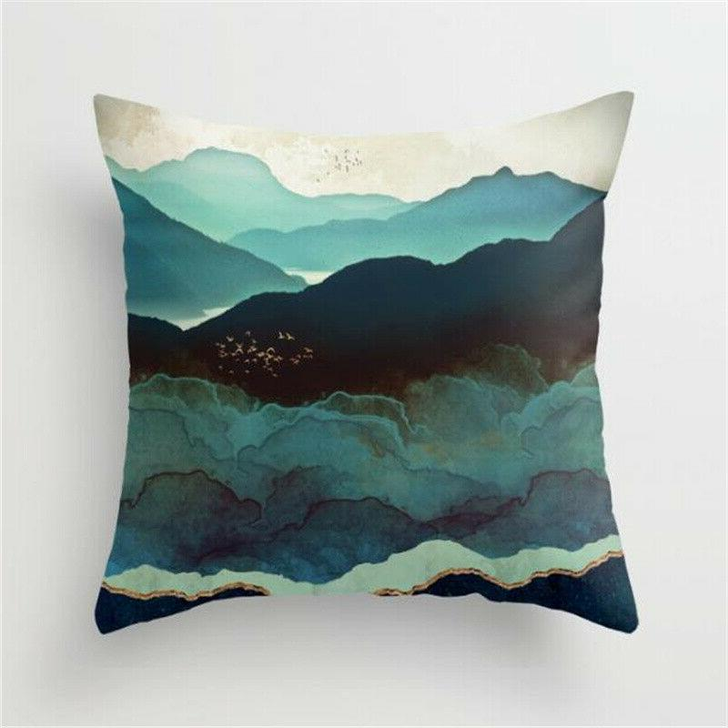 Landscape Painting Cases Home Bed Sofa Throw