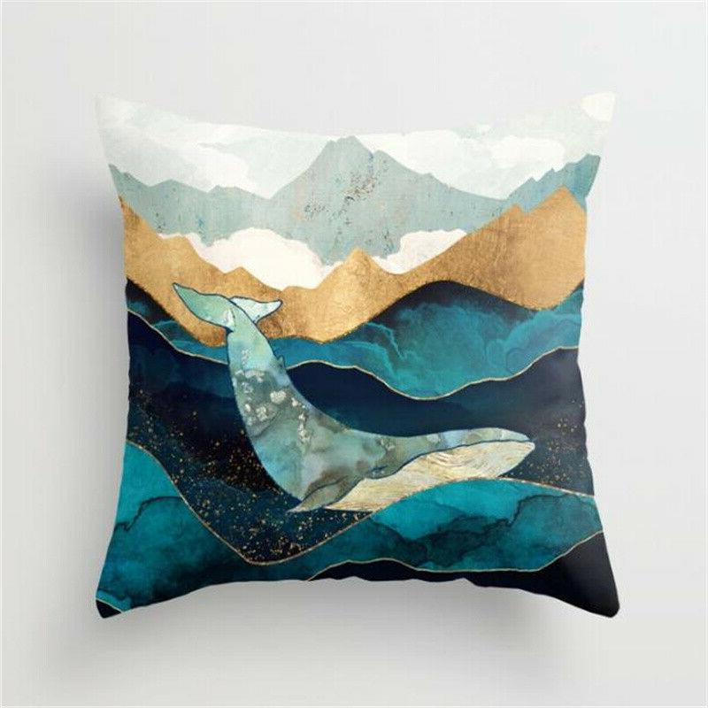 Landscape Painting Cases Home Sofa Waist Throw