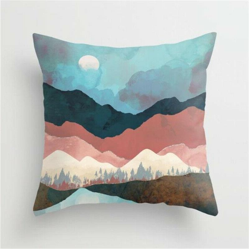 Landscape Pillow Home Throw Cushion