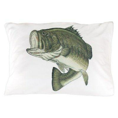 large mouth bass standard size pillow case