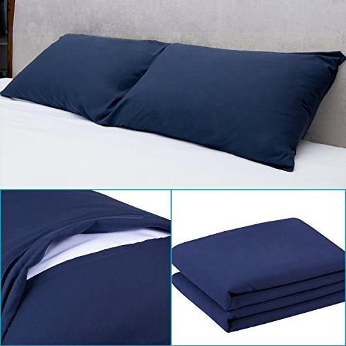 Adoric Life Pillow Cases Set 2, 100% Microfiber, Double-Stitched Tailoring, Hypoallergenic, & Wrinkle Resistant Premium Pillow
