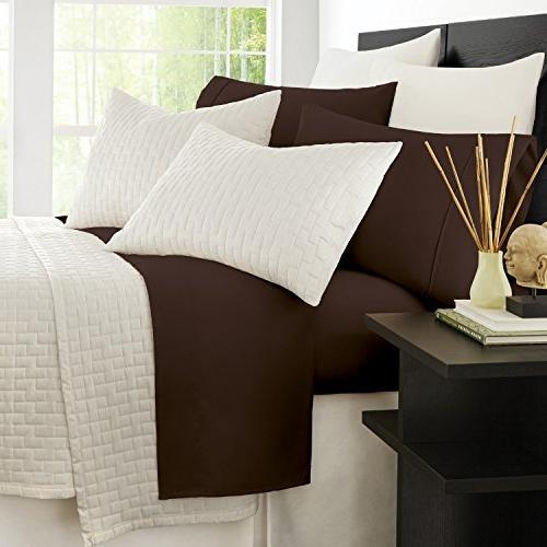 Zen Bamboo Series Bed Eco-Friendly, Wrinkle Resistant Rayon Derived Bamboo 4-Piece King