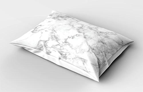 Ambesonne Marble Pillow Nature Granite Cloudy Spotted Trace Effects Marble Image, 26 X Light Dust
