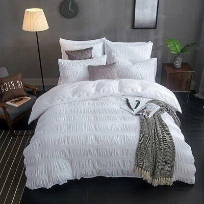 Merryfeel Cotton Duvet Cover Set,100% Cotton Yarn Dyed Seers
