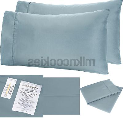 microfiber pillowcases 2 pack standard spa blue