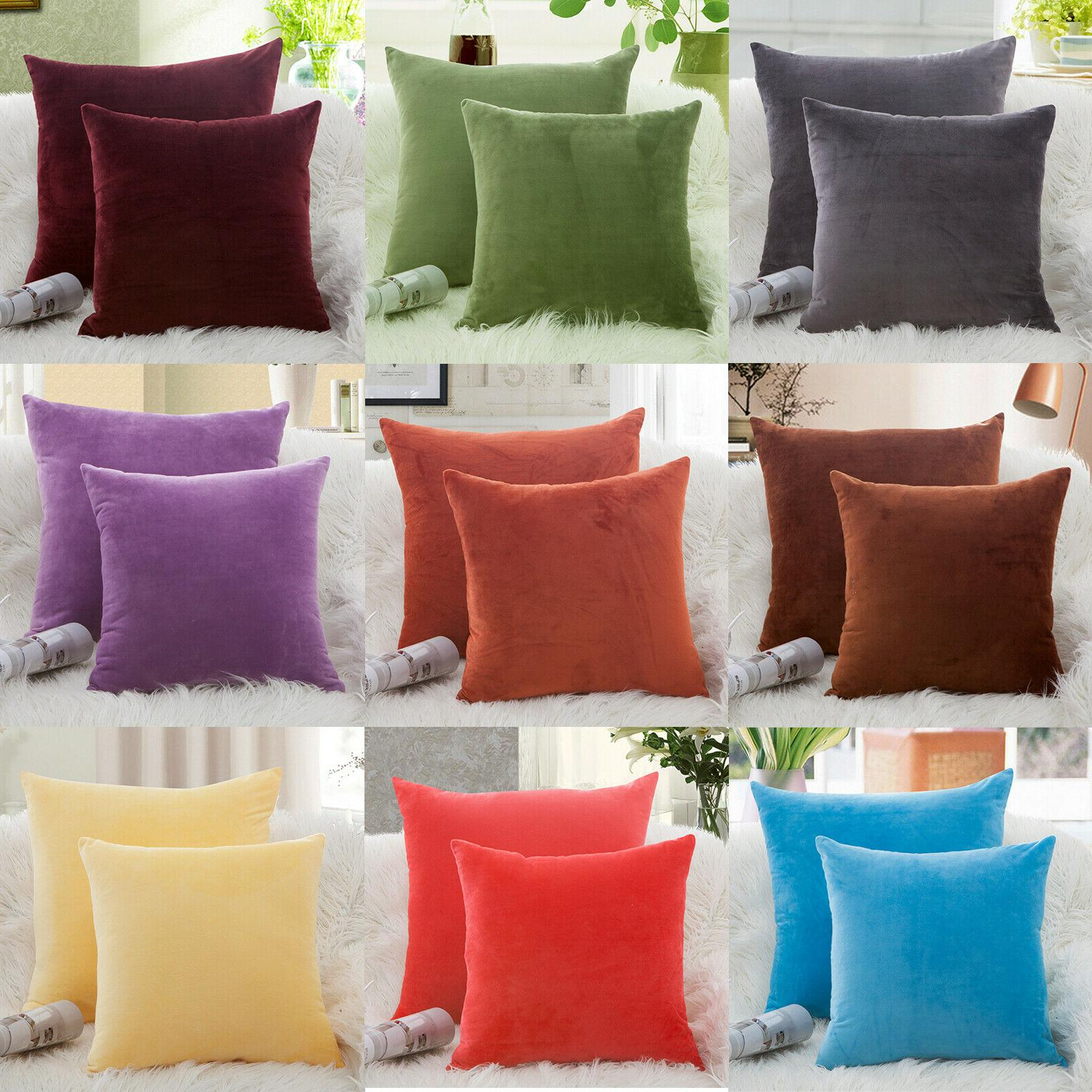 Microfiber Covers Cushion Pillowcases Solid Color