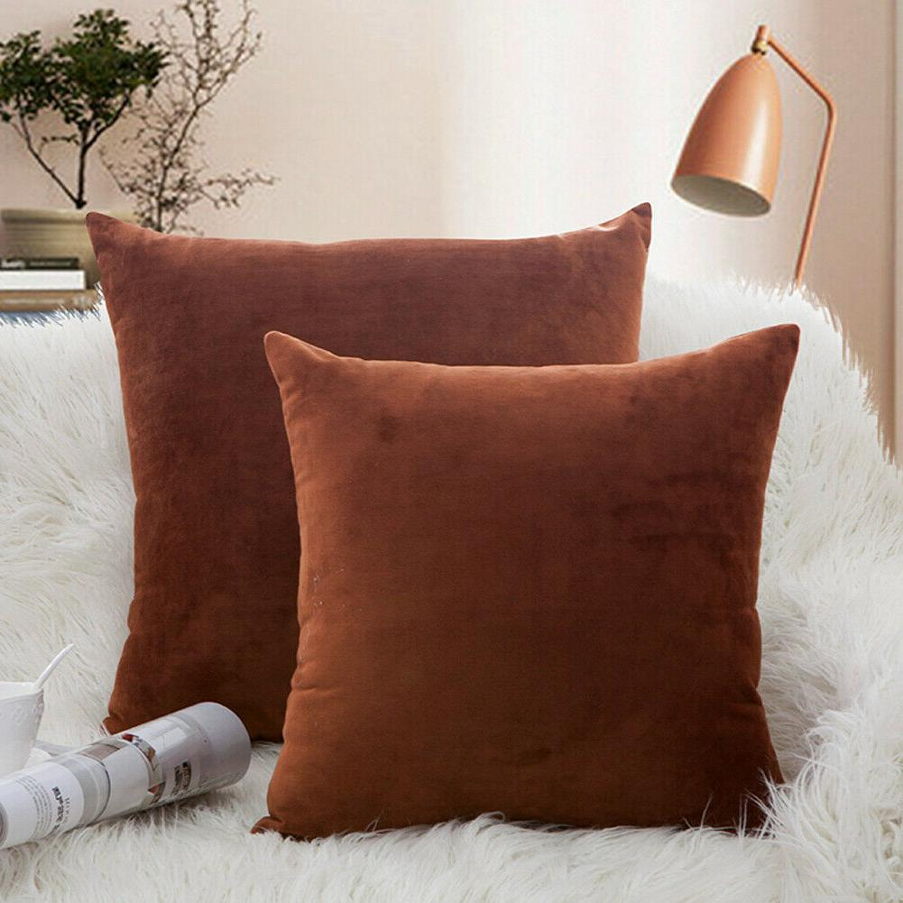 Microfiber Covers Cushion Solid Color