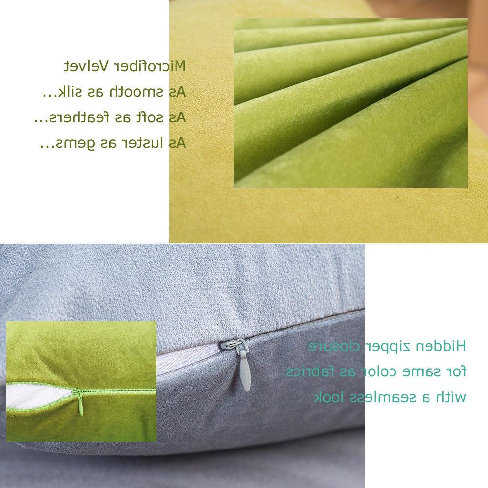 Microfiber Throw Pillow Covers Solid
