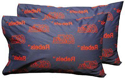 mississippi rebels pair of solid pillowcase standard