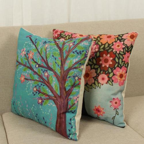 Floral Leaf Cotton Garden Waterproof Pillow Covers
