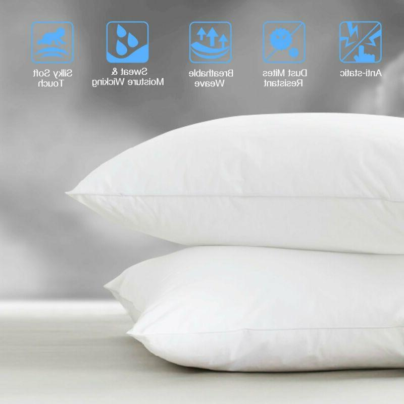 Adoric Pillow Pillowcases Two-Pack Queen Size 100%