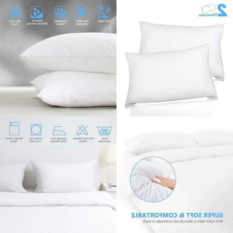 pillow cases pillowcases set two pack queen
