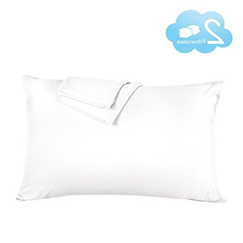 pillow cases white brushed microfiber
