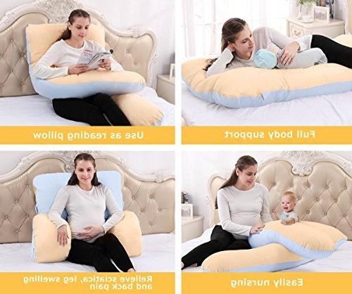 """Body Pillow with Removable Cotton Pillow By Dream, 60"""" x 31"""""""