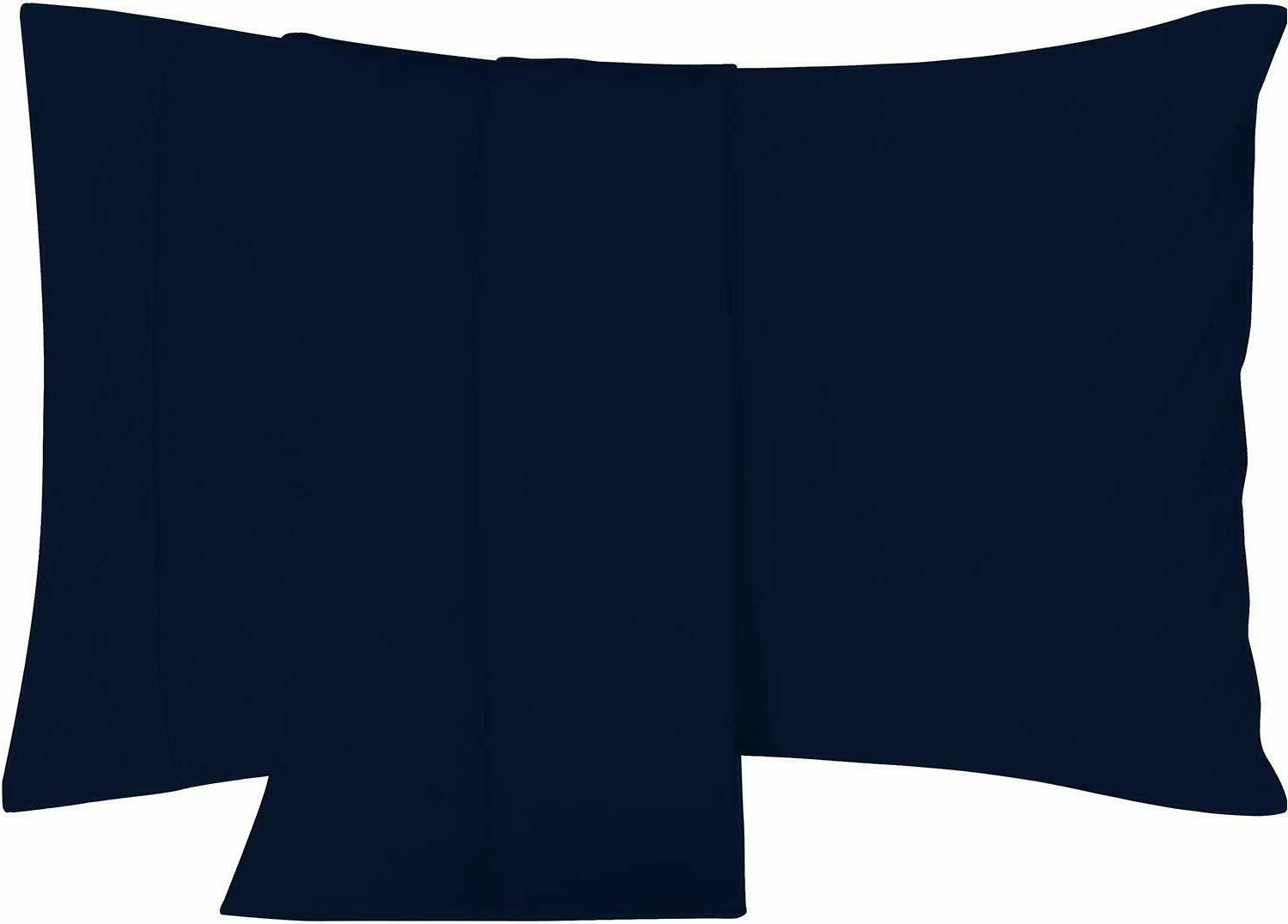 pillowcases 2 pack king navy brushed microfiber